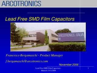 Lead Free SMD Film Capacitors