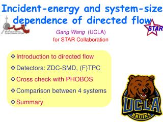 Incident-energy and system-size dependence of directed flow