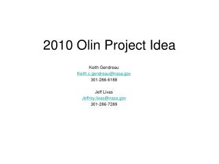2010 Olin Project Idea