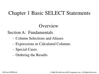 Chapter 1 Basic SELECT Statements