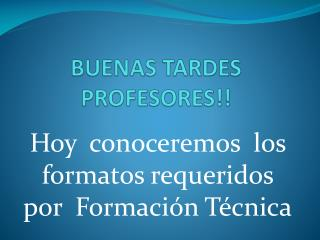 BUENAS TARDES PROFESORES!!
