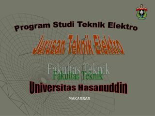 Program Studi Teknik Elektro