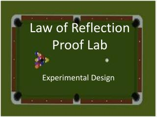 Law of Reflection Proof Lab