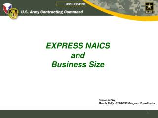 EXPRESS NAICS  and  Business Size
