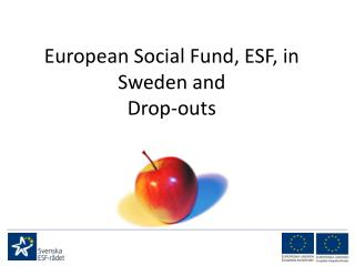 European Social Fund, ESF, in Sweden and Drop-outs