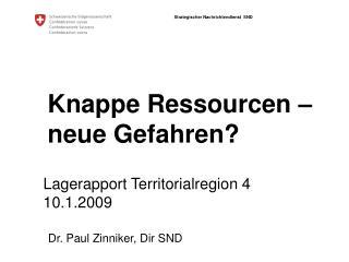 Knappe Ressourcen – neue Gefahren?