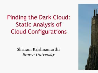 Finding the Dark Cloud: Static Analysis of Cloud Configurations