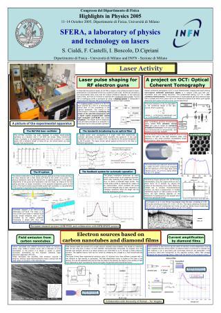 Congresso del Dipartimento di Fisica  Highlights in Physics 2005