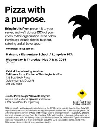 FUNdraiser in support of: Matsunga Elementary School / Longview PTA
