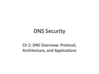DNS Security