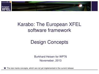 Karabo: The European XFEL software framework Design Concepts