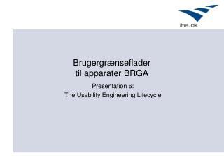 Brugergrænseflader  til apparater BRGA