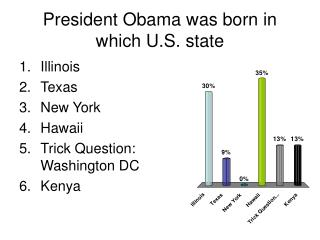 President Obama was born in which U.S. state