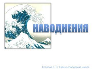 Колосов Д. В.  Краснослободская  школа