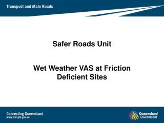 Safer Roads Unit