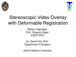 Stereoscopic Video Overlay with Deformable Registration