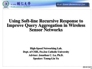 Using Soft-line Recursive Response to Improve Query Aggregation in Wireless Sensor Networks