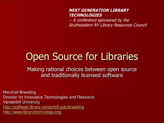 Open Source for Libraries