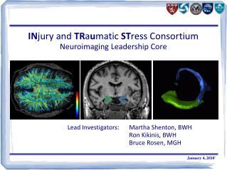 IN jury and  TR a u matic  ST ress Consortium Neuroimaging Leadership Core