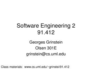 Software Engineering 2 91.412