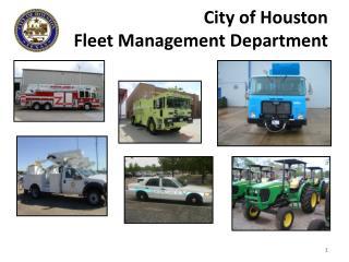 City of Houston Fleet Management Department
