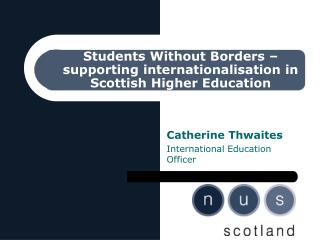 Students Without Borders – supporting internationalisation in Scottish Higher Education