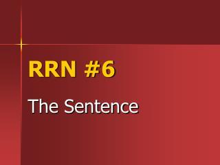 RRN #6