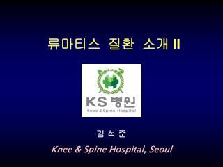김 석 준 Knee & Spine Hospital, Seoul