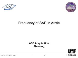 Frequency of SAR in Arctic
