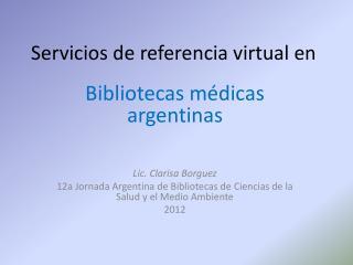 Servicios de referencia virtual en