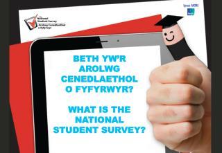Beth  yw'r Arolwg Cenedlaethol o  Fyfyrwyr ? WHAT IS THE NATIONAL STUDENT SURVEY?