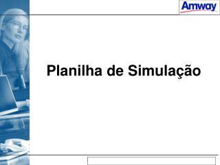 Planilha de Simulação