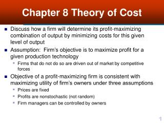 Chapter 8 Theory of Cost