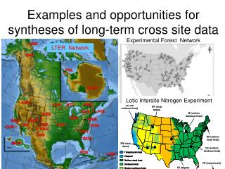 Examples and opportunities for syntheses of long-term cross site data