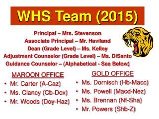 WHS Team (2015)