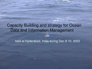 Capacity Building and strategy for Ocean Data and Information Management
