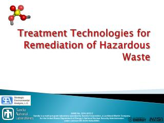 Treatment Technologies for Remediation of Hazardous Waste