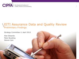 EITI Assurance Data and Quality Review  Preliminary Findings