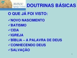DOUTRINAS BÁSICAS
