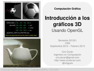 Introducción  a los  gráficos  3D