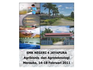 SMK NEGERI 4 JAYAPURA Agribisnis  dan  Agroteknologi Merauke, 14-18 Februari 2011