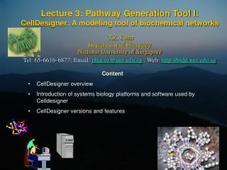 Content CellDesigner overview