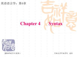 Chapter 4 Syntax