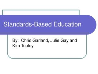 Standards-Based Education