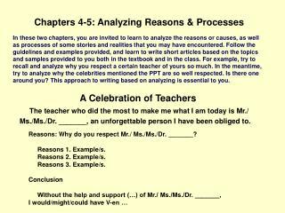 A Celebration of Teachers