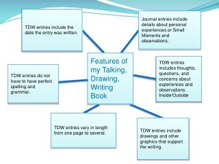 TDW entries include drawings and other graphics that support the writing.