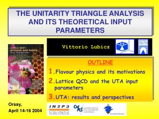 THE UNITARITY TRIANGLE ANALYSIS AND ITS THEORETICAL INPUT PARAMETERS