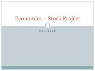Economics  - Stock Project