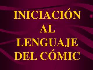 INICIACIÓN AL LENGUAJE DEL CÓMIC