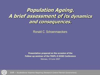 Presentation prepared on the occasion of the Follow-up seminar of the TRIPL-E DOSE Conference